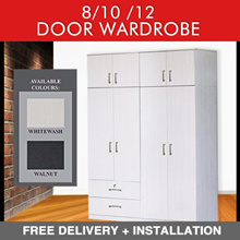 8/10/12 DOOR Wardrobe DRAWER Option (Whitewash / Walnut AVAIL)