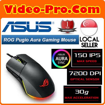 6e560c06562 Asus ROG Pugio Aura RGB [7.2K] DPI USB Wired Optical Ergonomic Ambidextrous  Gaming