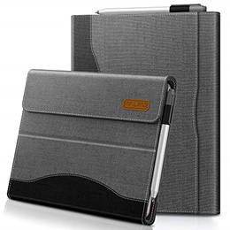 ▶$1 Shop Coupon◀  Infiland Microsoft Surface Go case, Multi-Angle Business Cover with Pocket for Mic