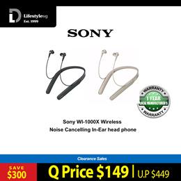 Sony WI-1000X Wireless Noise Cancelling In-ear head phones