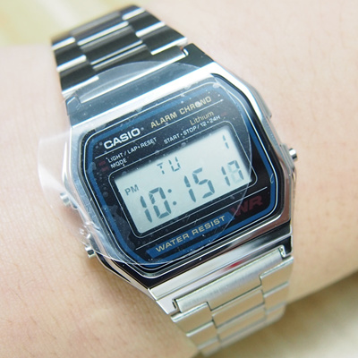 uk availability d5ed2 3120c Authentic retro spot Japan s Casio watches CASIO A158WA-1JF steel student  e-form