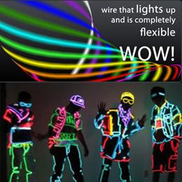 EL Wire Luminous Glow Wire Dance Light Show Electronics Strip.