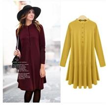 2017 winter women cotton sweater street fashion dress knit