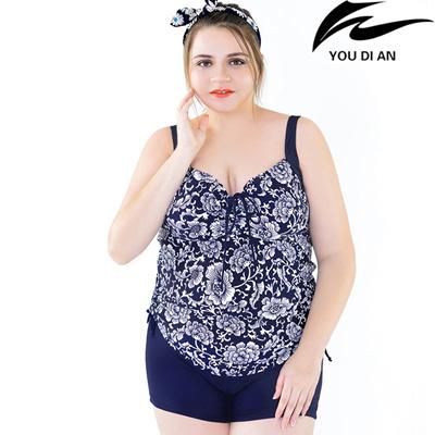 Qoo10 Fat Girl Two Pieces Swimwear Plus Size Swimsuit Women Europe