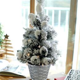 Christmas Tree with Lights  50cm Mini Christmas Tree Artificial Flocking Snow Great Christmas Gift