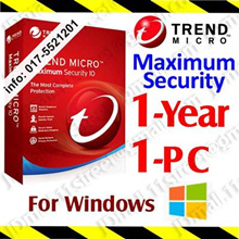 Trend Micro Maximum Security - 1 YEAR 1 PC ***** by Email | antivirus anti virus