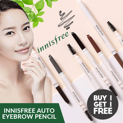 [Buy 1 Get 1 FREE!] Innisfree Auto Eyebrow Pencil Deals for only Rp83.600 instead of Rp83.600