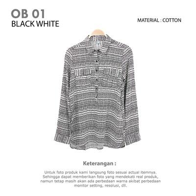 OB 01 BLACK WHITE