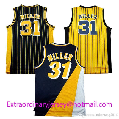 buy popular 3cdce 4e316 Cheap Throwback Men' s #31 Reggie Miller Jersey Rev 30 Jersey 100% Stitched  S-XXL,Free Shipping