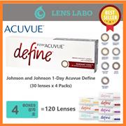 Johnson and Johnson 1-Day Acuvue Define (30 lenses/ packs) x 4