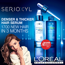 ❤ LOreal SERIOXYL ❤ Salon grade Denser/Thicker Hair Serum and Shampoo.