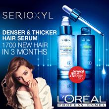 ❤ LOreal SERIOXYL ❤ Salon grade Denser/Thicker Hair Serum and Shampoo.