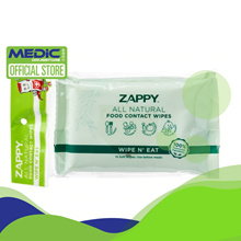 [Bundle of 12] Zappy Food Contact Wipes 15S x 2 - By Medic Drugstore