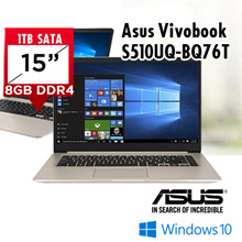 Asus Vivobook S510UQ-BQ76T|i7/8GB/1Tb+128SSD/GT 940 Graphic Card|2 Years Warranty|