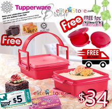 FREE SHIPPING TUPPERWARE Hari Raya Cake Gift Set [Aidilfitri Cake Set Goody Box FREE MINI SHELL