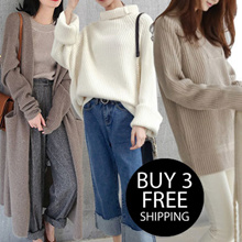 【10.23 update】Winter Sweater Thermal Jacket*Korean version of womens sweaters simple dress pants