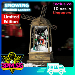 Snowing Windmill Lantern Christmas Decoration