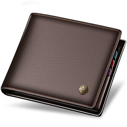 Short Wallet Purse For Men Genuine Cow Leather Casual Coin