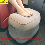 Travel Inflatable Pillow Plane Train Foot MAT Pad Air Inflatable Large Valve Footrest Pillow 3 Layer