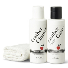 [SG] 3pcs Leather Care kit - Apple Brand Leather Care Kit 4oz Cleaner + 4oz Conditioner + Cloth