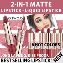[ MATTE LIPSTICK ] ♥NEW♥ 2-IN-1 MATTE LIPSTICK+LIQUID LIPSTICK ❤️ 100% NON TRANSFER❤️LONG LASTING❤