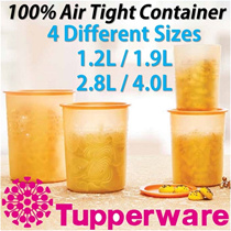 SG Seller ★Authentic TupperWare★ 100% Airtight Gold Mosaic One Touch Container Storage