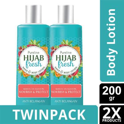 TWINPACK - PURELINE HIJAB FRESH NOURISH AND PROTECT LOTION SPF 200ML