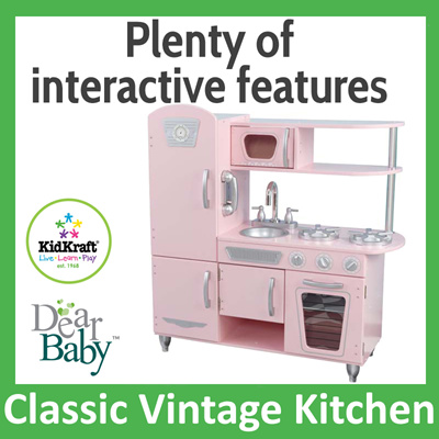 Qoo10 wooden kitchen set kidkraft classic vintage for Qoo10 kitchen set