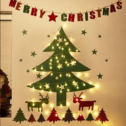 Wall Christmas Trees Decorative Lights 30 Bulbs★Interior Deco/Window/Ornament/X-Mas Decoration★All configurations One Set★Tree/Xmas/Birthday Gift