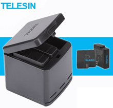Telesin Charger and Batteries Kit/Extended Battery for Gopro Hero 4/5/6