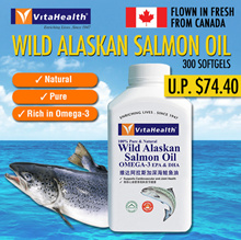 Bestselling Vitahealth Wild Alaskan Salmon Oil 1000mg - 300 softgels* EXP 2019-02