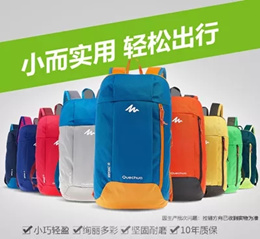 Decathlon backpack male / female / student mini sports leisure travel bag canvas bag 10L QUECHUA