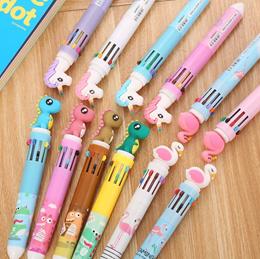 🌈 10 Colors Cartoon Pens Goodie Bag Kids Students Gift Children Day Pencil pencils Dinosaur Unicorn