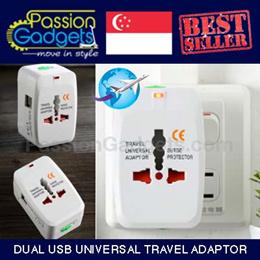 CHEAPEST!♥LATEST!  DUAL USB PORT ♥Universal Travel Adaptor ♥ AC power Adapter ♥ AU UK US EU