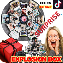 2018 Surprise gift❤Douyin❤Explosion Box DIY Custom handmade Album / Creative photos / Romantic lovers / Birthday /travel/ family momery