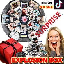 2018 Surprise gift❤Douyin❤Explosion Box DIY Custom handmade Album / Creative photos / Romantic lovers / Birthday /travel/ family momery