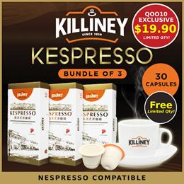 [Killiney NEW LAUNCH] Bundle of 3 - KESPRESSO Coffee (Nespresso Compatible Coffee Capsule Pods)