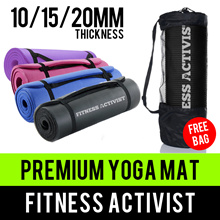⏰💪★★Premium Quality Comfort★★NBR/PVC/TPE★★Extra Thick 6/10/15/20MM Yoga Mat★★Singapore Seller★★