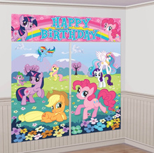 Licensed MY LITTLE PONY Scene Setter. Party Decor.  Party Supplies. Banner. Backdrop. Kids Birthday