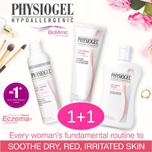 [1+1 Bundle] PHYSIOGEL A.I Calming Relieve | Daily Moisture Therapy Cream. For eczema.