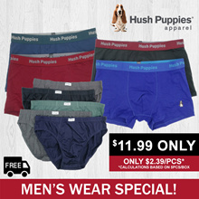 HUSH PUPPIES SERIES | VARIOUS OPTIONS | BRIEFS/INNERTEE/BOXER SHORTS | FREE SHIPPING