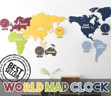 ★MANDELA/MORO★ KOREAN World Map Wall Clock / Suzuki Silent Movement