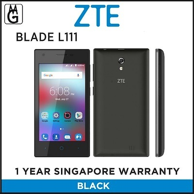 ZTEZTE BLADE L111 1GB ROM (Black) Local Warranty 1GB RAM 8GB ROM
