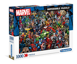 Clementoni Jigsaw Puzzle: MARVEL 1000 pcs - Impossible Puzzle ICM39411