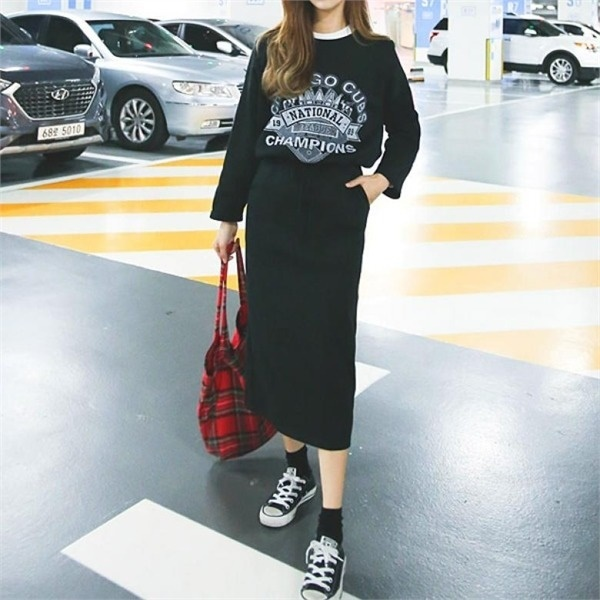 キューブ起毛ツーピースnew フレアワンピース/ワンピース/韓国ファッション