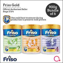 [FRISO] Friso Gold 2/3/4 900g – 6 tins bundle | Made in Netherlands for SG | Official Friso Seller