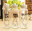 Botol Minum Kaca Transparant - Baymax / Big Hero Series (300ml) Drinking Glass Bottle Transparent - Baymax / Big Hero Series (300ml) SJ0051 K004