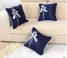 Home European style sofa back cushion Home Furnishing boutique high-grade bed pillow cushion cover automobile waist by fashion