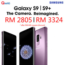 (Buy at RM 2805 with RM 400 coupon discount) Samsung Galaxy S9 / Galaxy S9 Plus Dual Sim 64GB LTE (Black/Gray/Blue/Purple)- 1 Year Seller Warranty