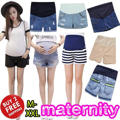43b740f0e56 2019 Maternity Wear Shorts Pants  Summer Leggings Pregnancy Women Denim  Bottom Skirts Jeans